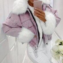 autumn winter women jacket coat warm faux fur short jean jackets 2020 ladies fashion plus size 3xl d