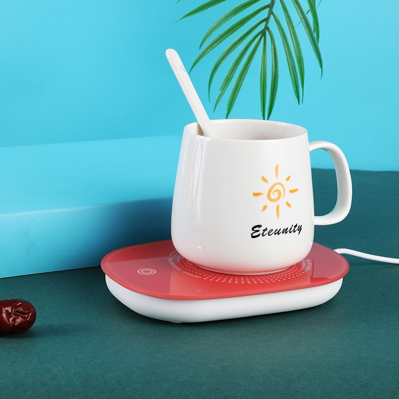 Graus de Temperatura Elétrico com Caneca Wad para a Bebida Constante Conjunto Aquecedor Café Esteiras Esteira Copo 16w Usb Aquecimento Isolamento 55