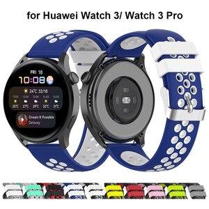 Classic 22mm Watch Strap for Huawei Watch 3 Pro Smartwatch Band for Huawei Watch GT2 Pro / GT 2E / GT2 46mm / Magic Watch 2 Blue