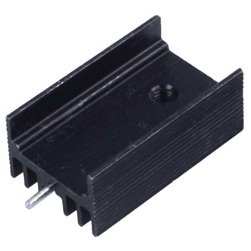 10x25x15x10mm de aluminio negro refrigerador del radiador para 220 transistor