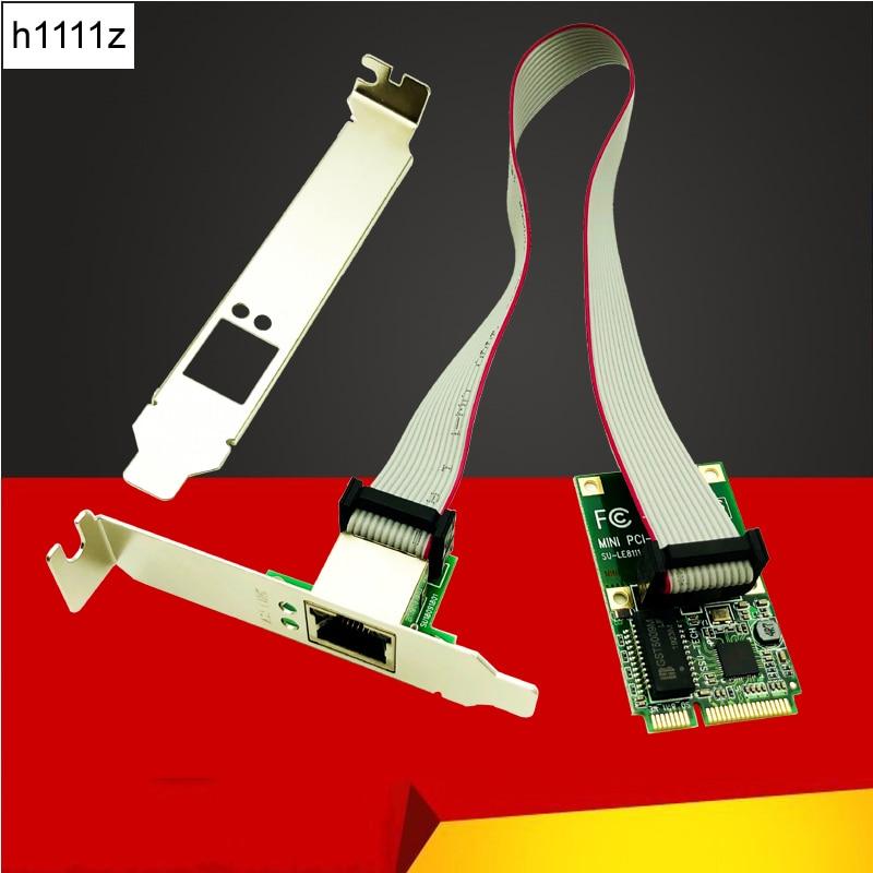 Placas de Rede H1111Z Mini PCI-E Placa de Rede Gigabit Ethernet 1000Mbps 10/100/1000M LAN NIC RJ45 adaptador de rede para o Computador PC