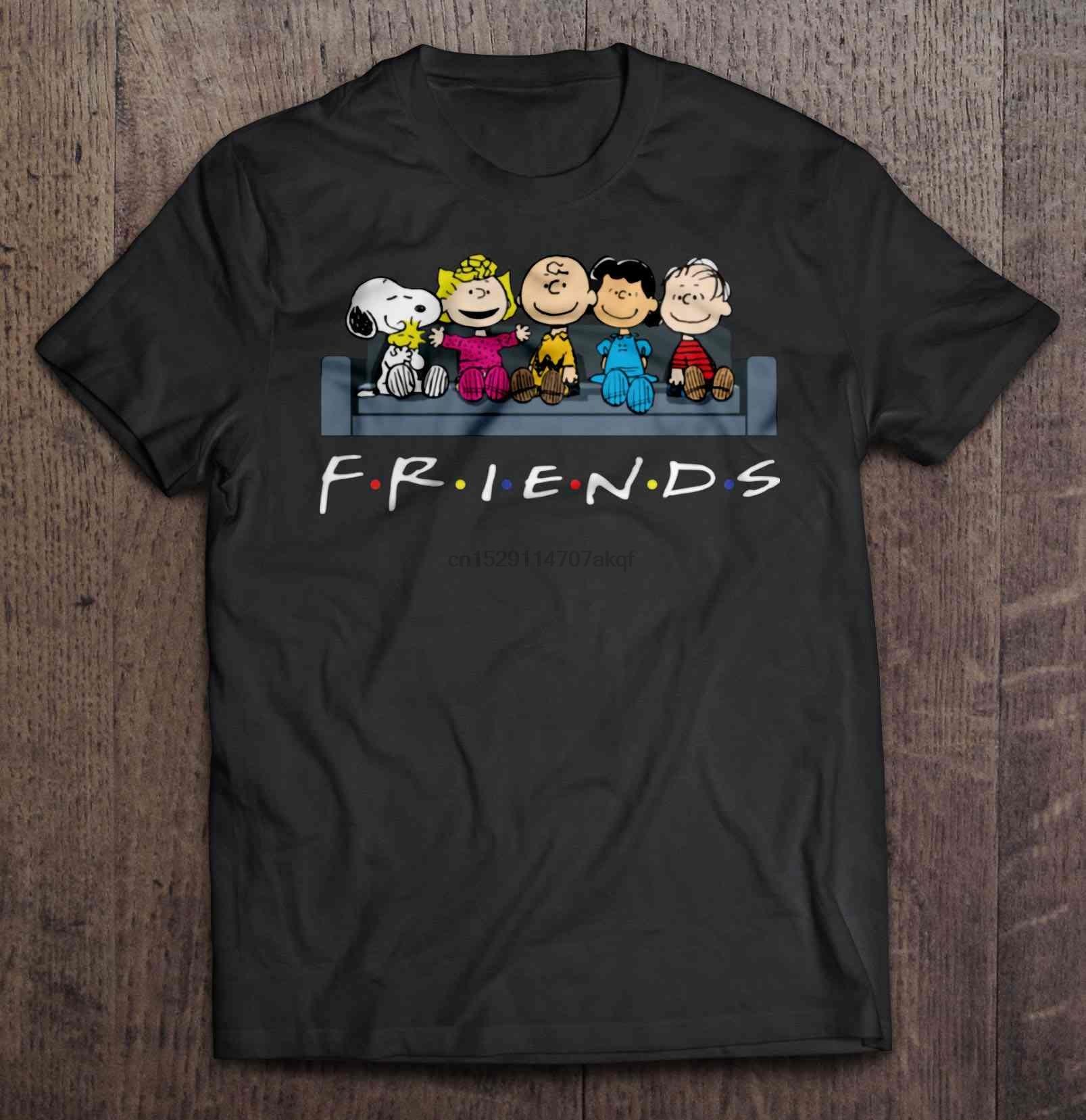 Men Funny T Shirt Fashion tshirt The Peanuts Movie Friends Couch Version Women t-shirt