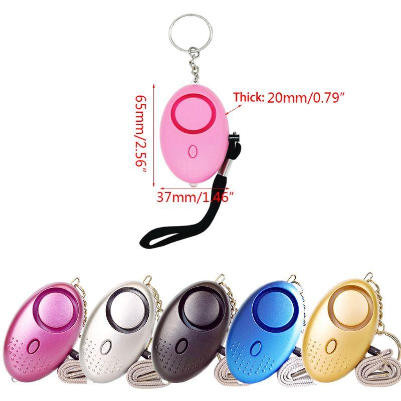 130db 130db alto som pessoal defesa sirene anti-ataque segurança led chaveiro de alarme com cordão para crianças femininas suprimentos