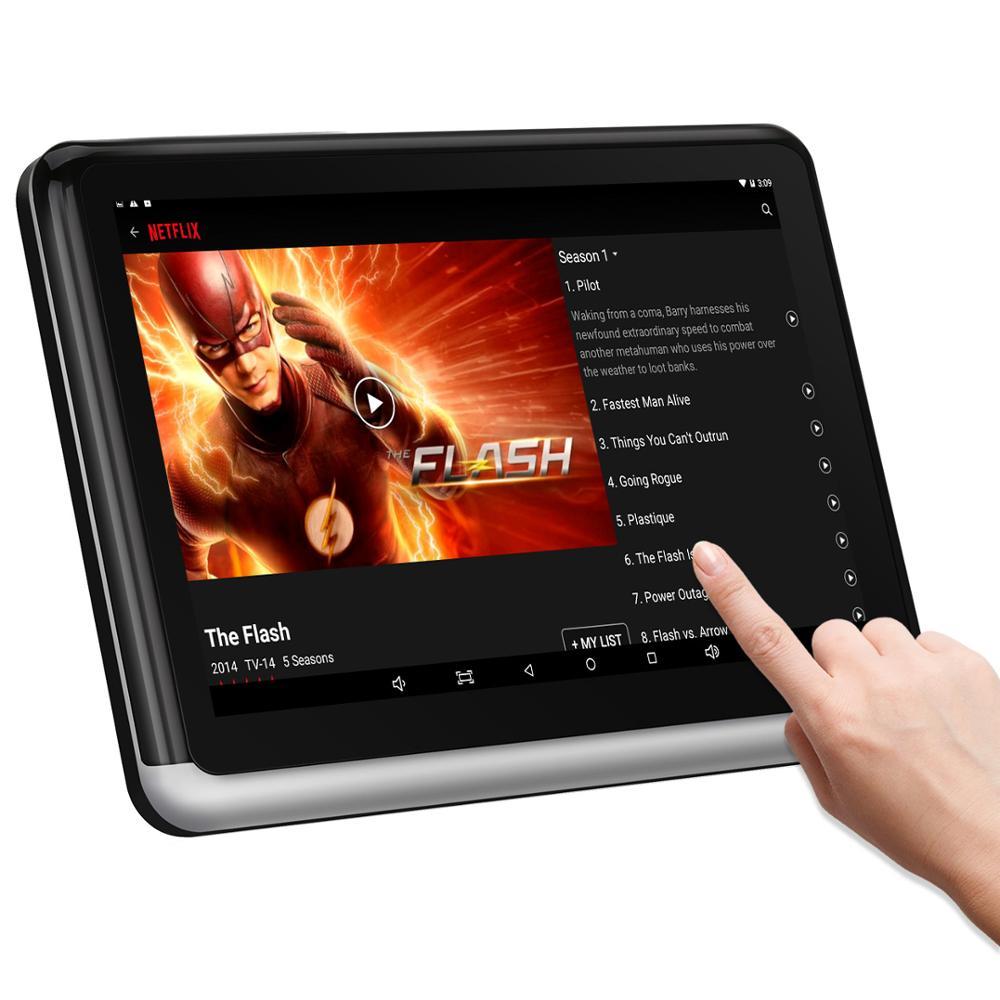 Android подголовник планшет с WiFi 10,1 дюймов, синхронизация экран ips сенсорный экран, YouTube Nexflix, зеркало для телефона, заднее сиденье автомобиля