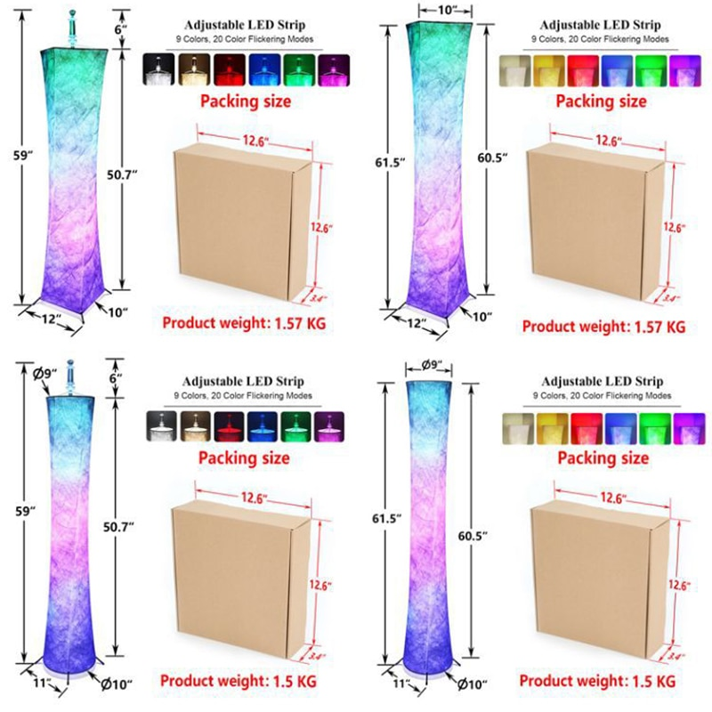 Creativity Colorful Floor Lights LED Remote Control RGB Dream Corner Lamp for Living Room Decoration Bedroom Party Ambient Lamps enlarge