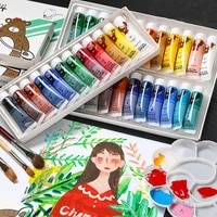 121824 36 colors professional acrylic paints set hand painted wall drawing craft waterproof pigment set children art supplie