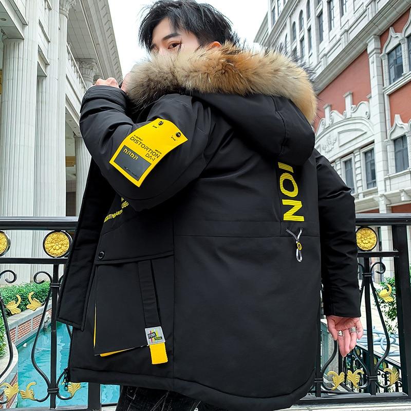 Winter Down Men's Cotton Coat Hooded Padded Outdoor Windbreak Padding Jacket