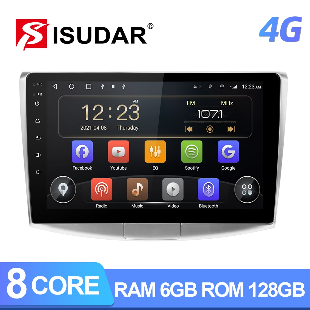 Isudar T72 4G Android Auto Radio For VW/Volkswagen/Passat B7 CC B6 Car Multimedia GPS 8 Core RAM 4GB ROM 64G Camera DVR No 2Din