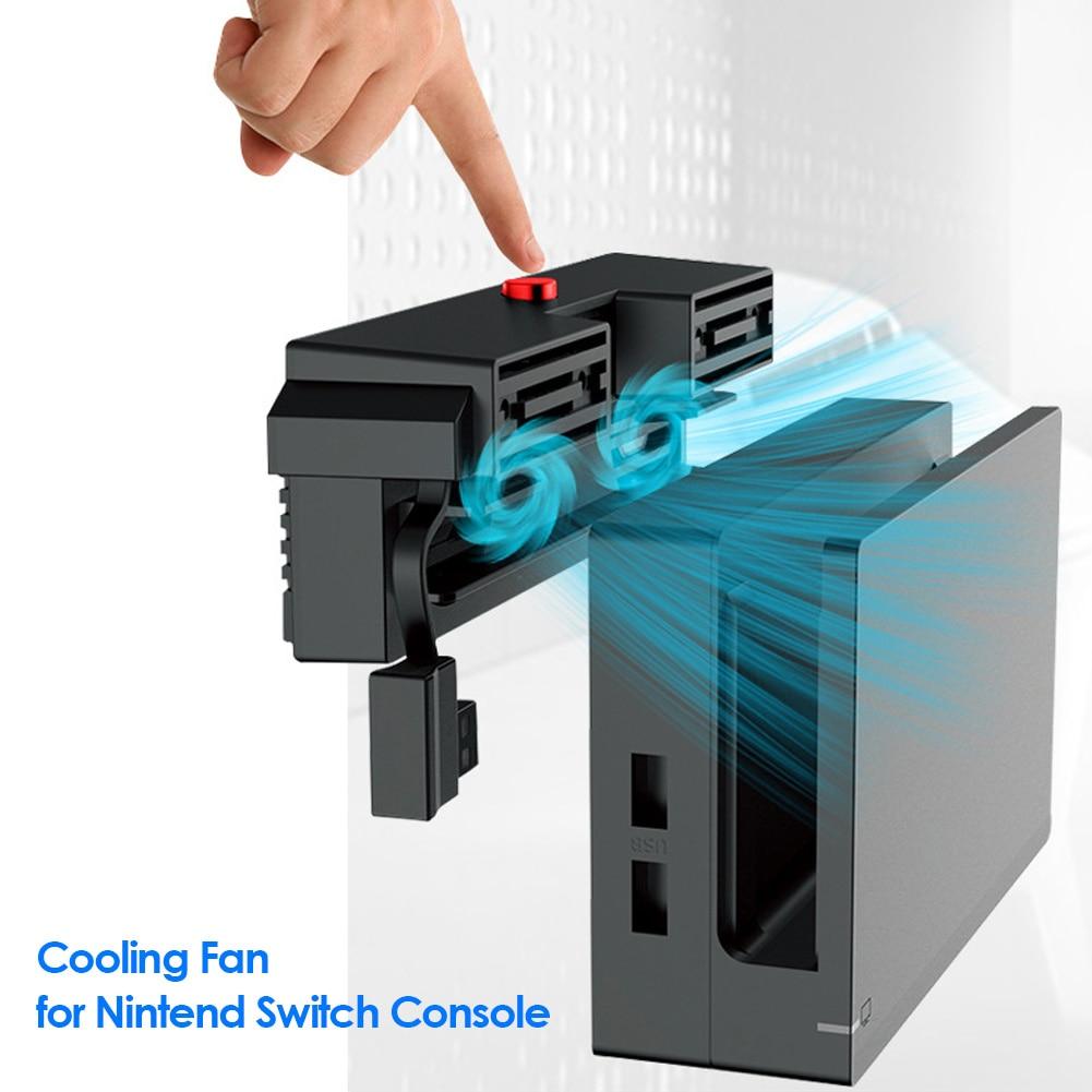 Ventilador para nintendo switch, cooler com 5000rpm, 2 ventiladores, alimentação usb externa