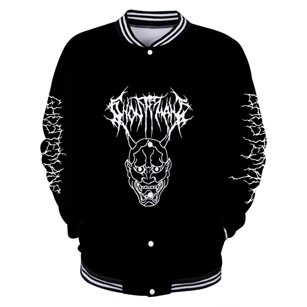 Ghostemane jaquetas de beisebol legal uniforme casaco 3d rock hip hop gótico mulheres inverno moda nova vogue freeshipping 2019 jaqueta