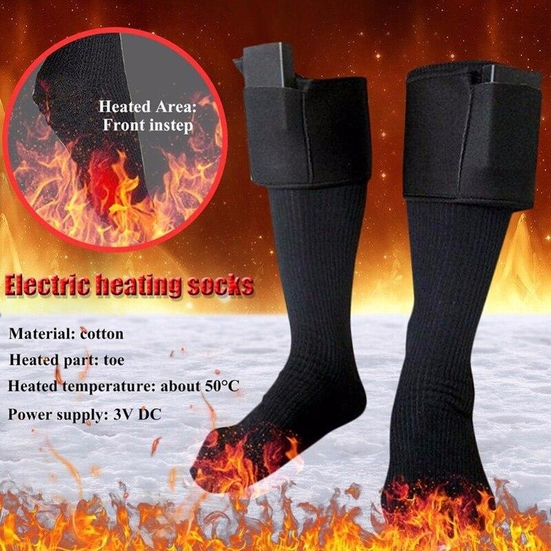 Calcetines largos calentados con pilas para invierno para hombre y mujer