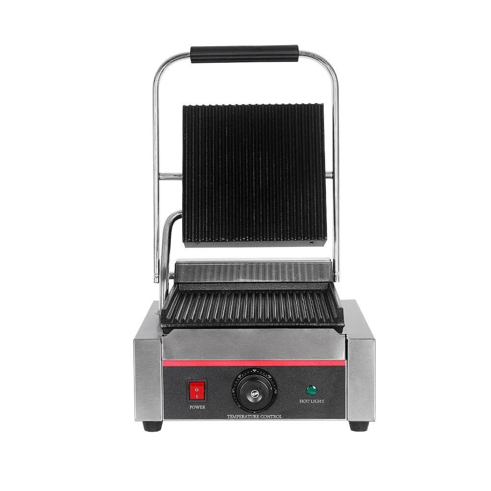 Parrilla de contacto comercial Panini máquina de prensa de Pan máquina de mesa sin humo parrilla sartén para carne cocina horno asado