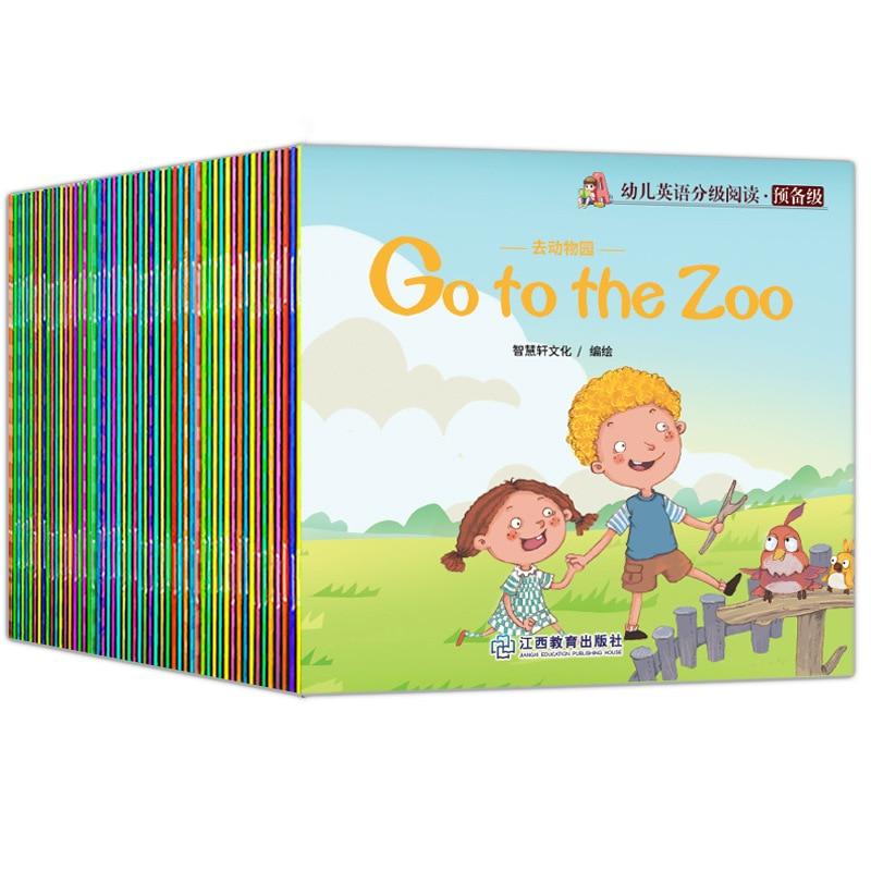 60 книг/комплект с картинками Детские просвещение для малышей и детей постарше английский язык слова сказки серии образовательные чтения кн...
