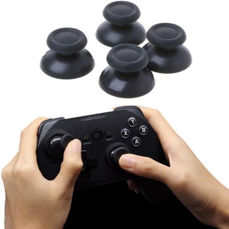 2 шт аналоговый джойстик для пальца Grip Кепки чехлы из черного пластика гриб для Ps4 PS5 Xbox 360 джойстика Замена контроллеры геймпады