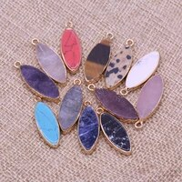 natural stone pendant marquise garnet pendant for fashion jewelry accessories making diy women man necklace earrings