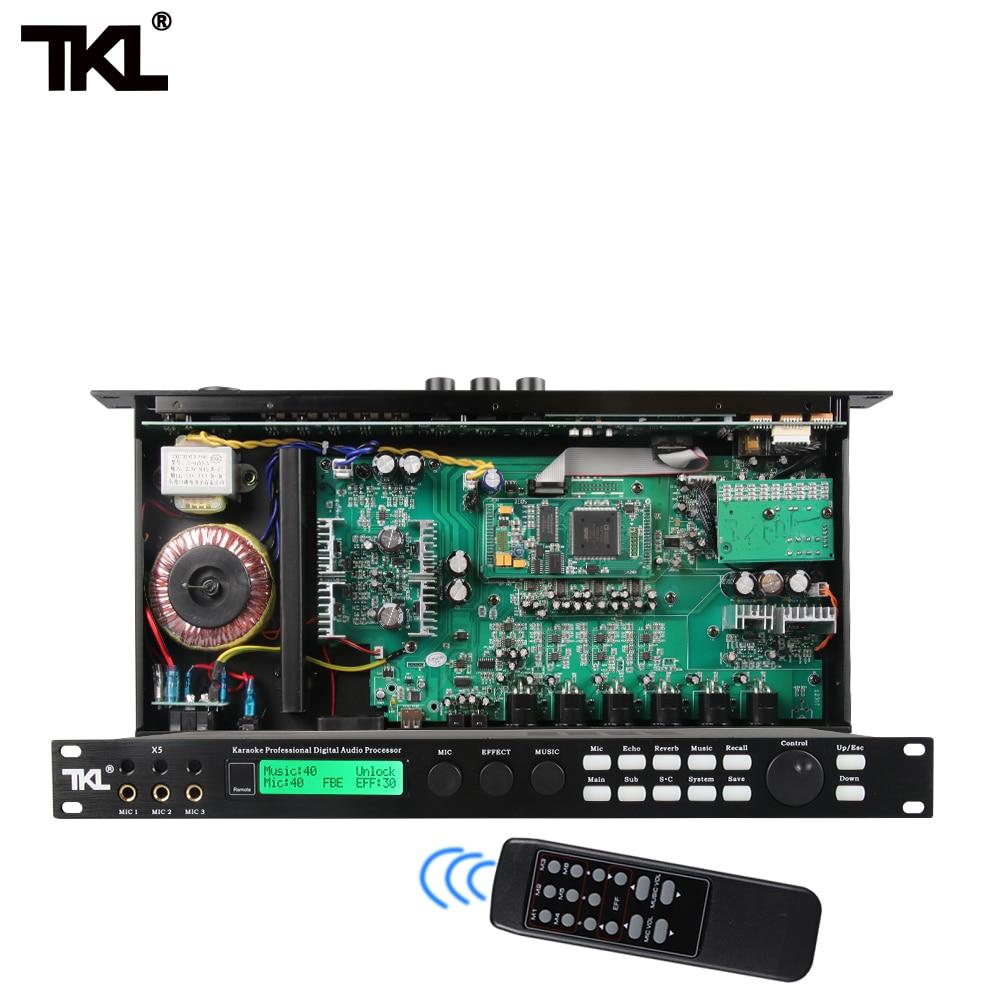 Tkl x5s profissional karaoke processador de áudio dsp processador digital casa teatro 5.1 sistema