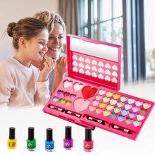 Mädchen Make-Up Kit Sicherheit ungiftig Prinzessin Kosmetik Waschbar Make-Up Pretend Spielen für Kleine Mädchen Dressing Kosmetische Box