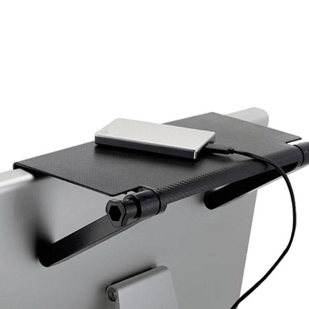 Pantalla de ordenador, estante superior de escritorio, pantalla mágica Caddy ABS, estante de exhibición de TV, almacenamiento para el hogar, plegable negro, multiusos