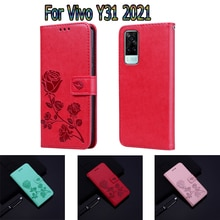 For Vivo Y31 Case Leather Book Cover For Vivo Y 31 2021 Case Flip Wallet Phone Screen Protective She