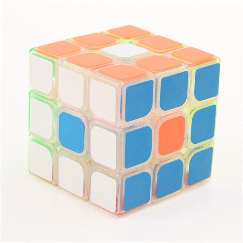 Yongjun GuanLong transparent 3x3x3 Magic Cube Puzzle Toys for Challenge For Children Kids cubo magico