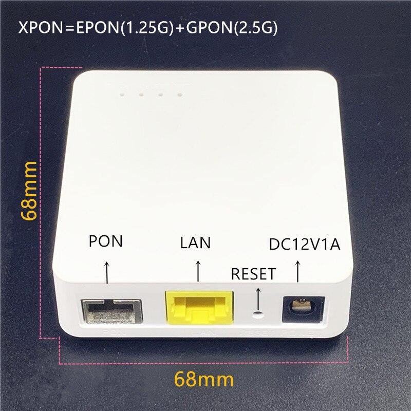 Minni 10 шт. ONU английский 68 мм XPON EPON1.25G/GPON2.5G G/EPON ONU модем FTTH G/EPON совместимый маршрутизатор Английский ONU MINI68 * 68 мм