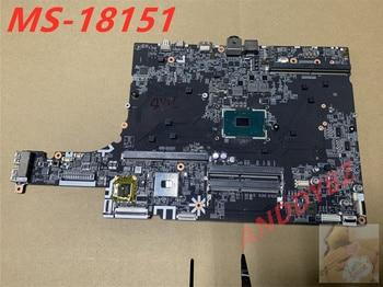 MS-18151 VER 1.0 LAPTOP MOTHERBOARD FOR MSI MS-1815 GT82VR GT83 GT83VR WITH CPU 100% working OK