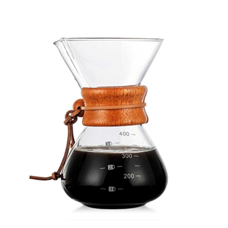 600 مللي ماكينة صنع قهوة زجاجية مقاومة صب فوق إبريق قهوة اسبريسو ماكينة قهوة إيطالية براد لصنع الموكا تستخدم مع فلتر ستانلس ستيل
