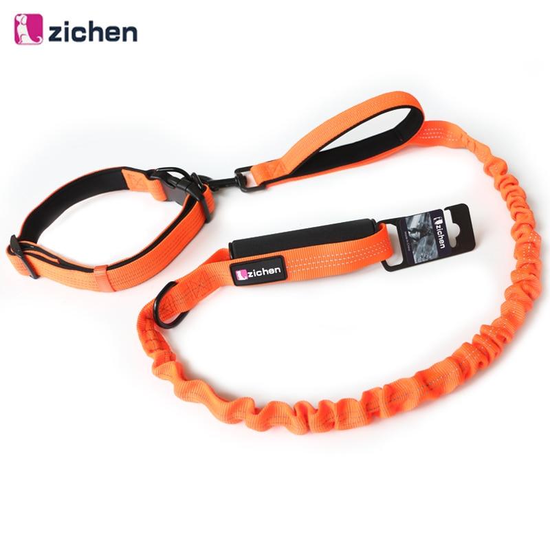 Coleira de cachorro conjunto reflexivo buffer elasticidade tração corda alça de espuma ajustável coleira de cachorro para cães médios grandes