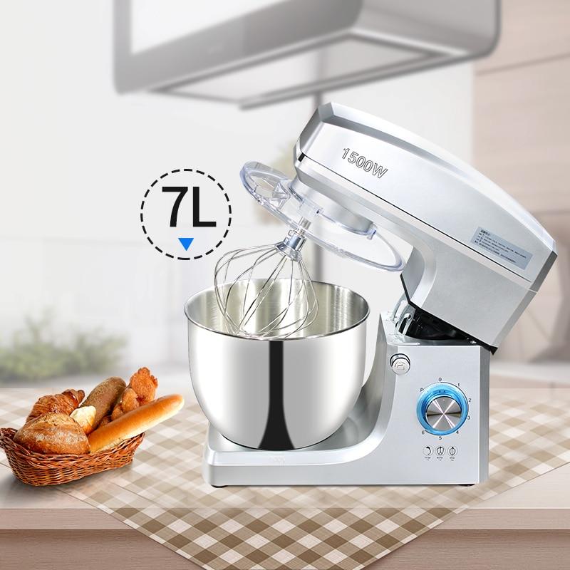 Промышленная чаша из нержавеющей стали 1500 Вт, мощный бытовой электрический пищевой миксер на 7 л для яиц, взбитых сливок, салатов, выпечки тортов   Бытовая техника   АлиЭкспресс