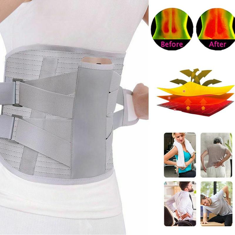 new Medical Self-heating Posture corrector belt waist protector Steel belt Lumbar support traction breathable health care tools