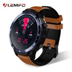 """Relógio inteligente dos homens android 7.1 lem12 smartwatch 4g 2020 resposta chamada 3g 32g face id sim gps wifi 1800mah bateria 1.6 """"hd câmera dupla"""