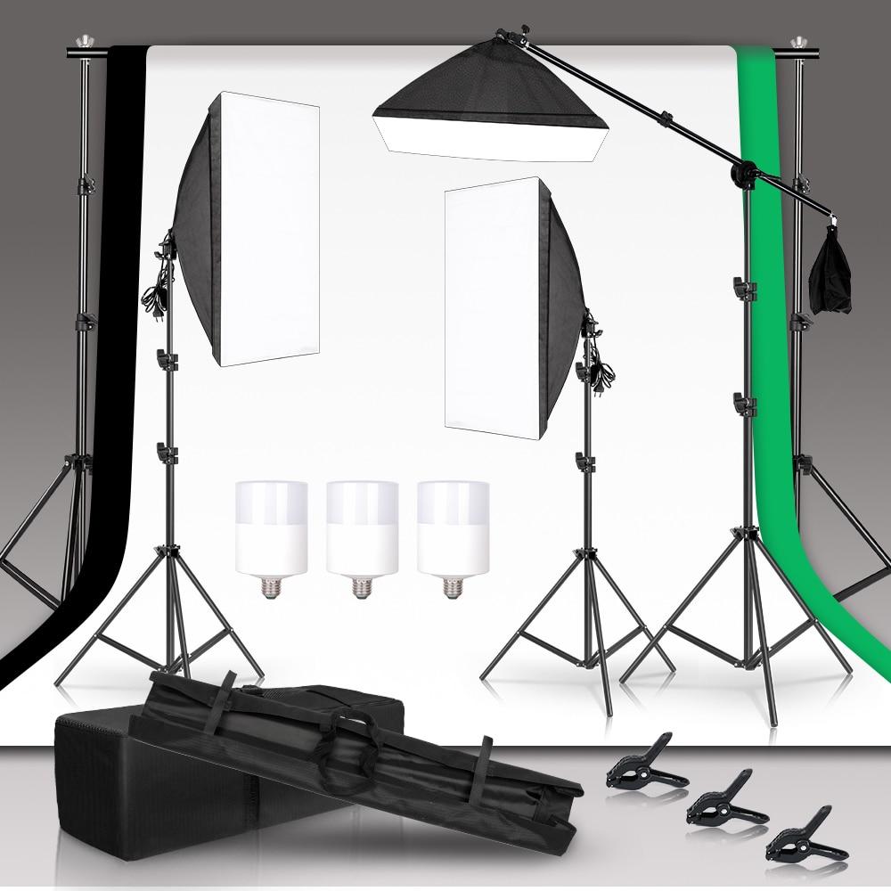 SH التصوير لينة صندوق طقم الإضاءة استوديو صور صور 2x2 متر الأخضر خلفية للكاميرا مع الشاش الخلفيات لمبة الملحقات