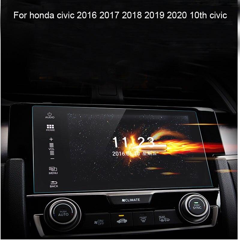Автомобильная приборная панель навигация Защитная закаленная пленка для Honda civic 2016 2017 2018 2019 202010th civic