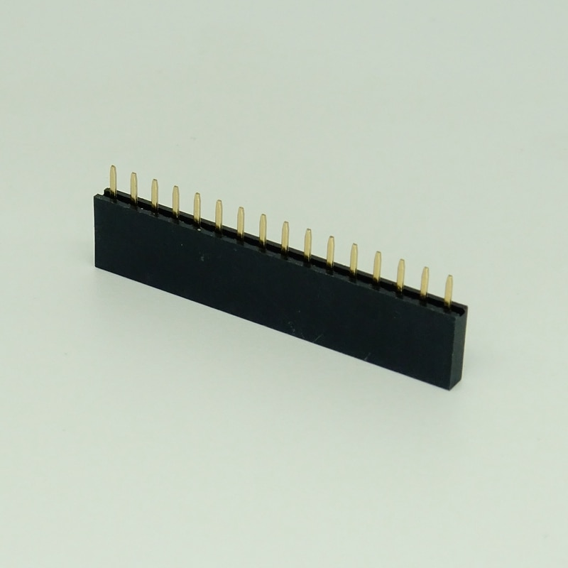 10Pin 2.54 مللي متر H8.5mm موصل رأس سالب 180d Dip