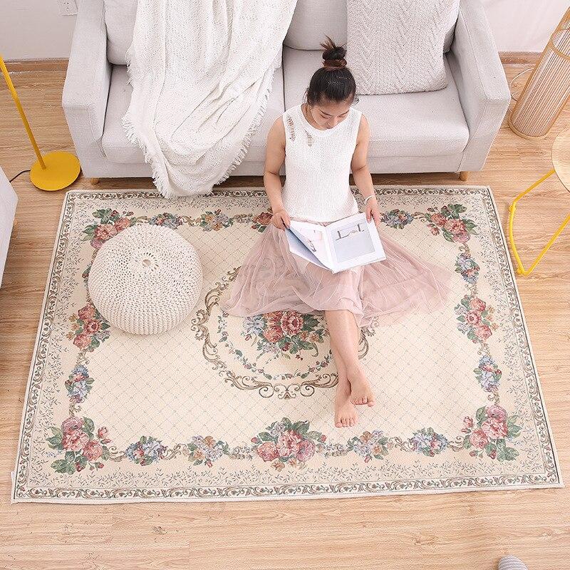 سجاد جاكار كبير على الطراز الأوروبي ، 200 × 290سم ، سجادة حديثة لغرفة النوم وطاولة القهوة والمكتب