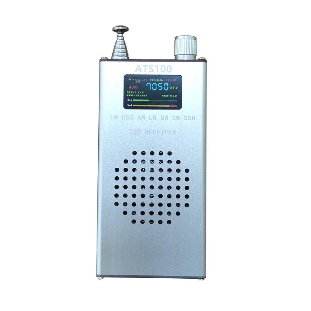 أحدث جهاز استقبال ATS100 SI4732 FM RDS AM LW MW SW SSB 150K-30MHZ 64M-108MHZ DSP راديو