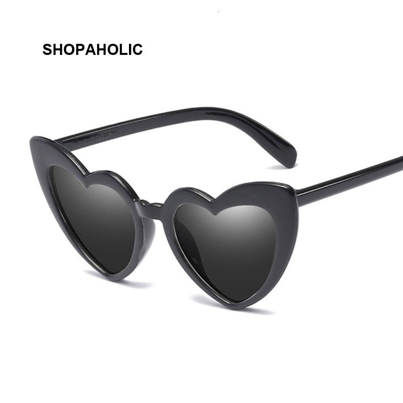 Heart Sunglasses Women Brand Designer Cat Eye Sun Glasses Female Retro Love Heart Shaped Glasses Lad