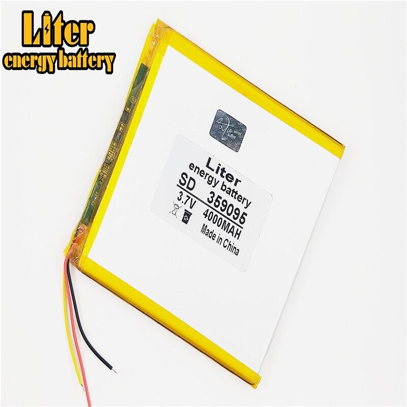 3 линии 3,7 V 4000mah планшетный аккумулятор gm литий-полимерный аккумулятор 359095 литий-ионный аккумулятор для MP3 MP4