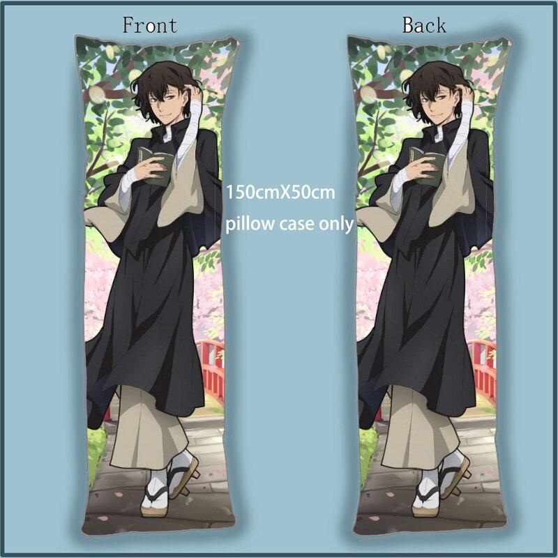 Bungo Stray Dog Osamu Dazai Anime Dakimakura cuerpo almohada funda doble cara