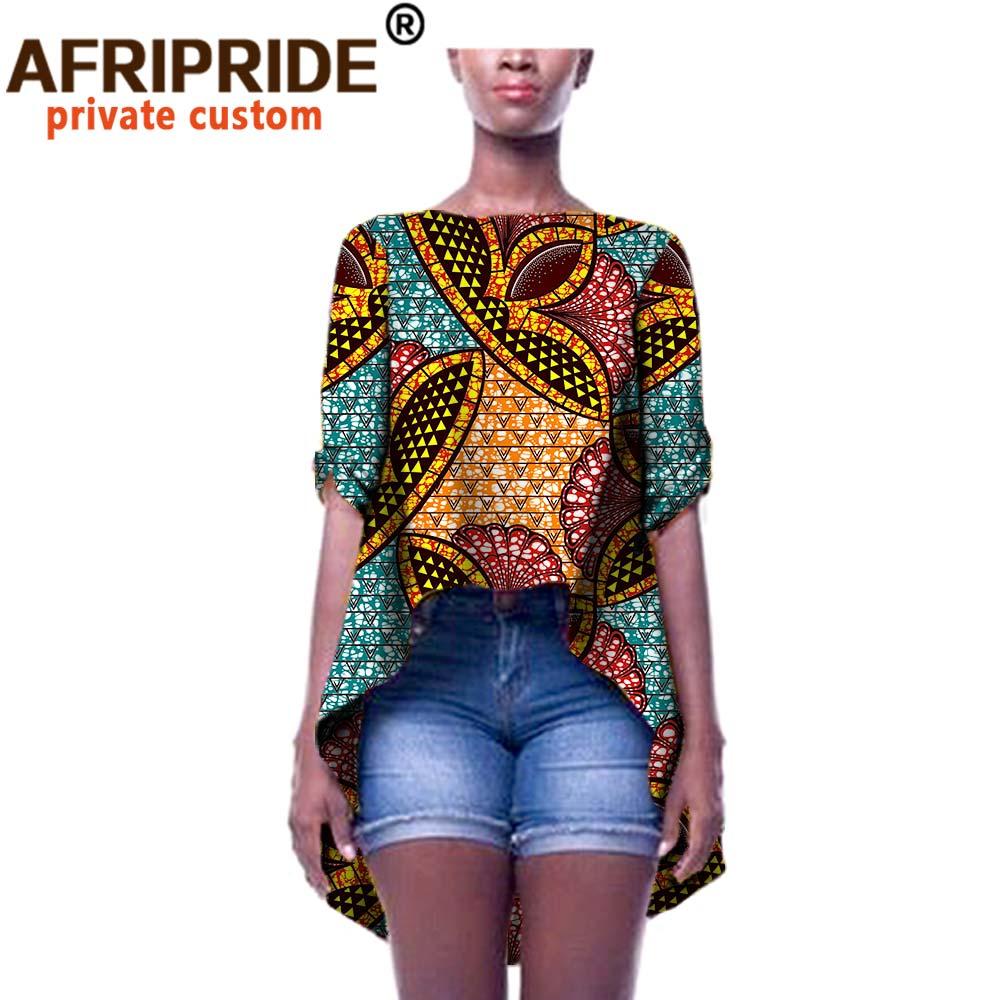 2020 Zomer Afrikaanse Vrouwen Kleding Prive Custom Losse Jas Voor Vrouwen Plus Size Pure Batik Katoen Casual Stijl A722415