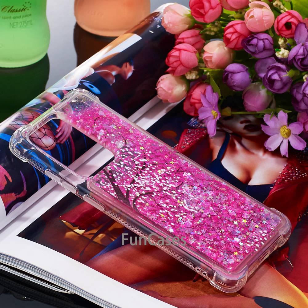 Funda de silicona con purpurina líquida para Samsung Galaxy S20 Ultra, a...