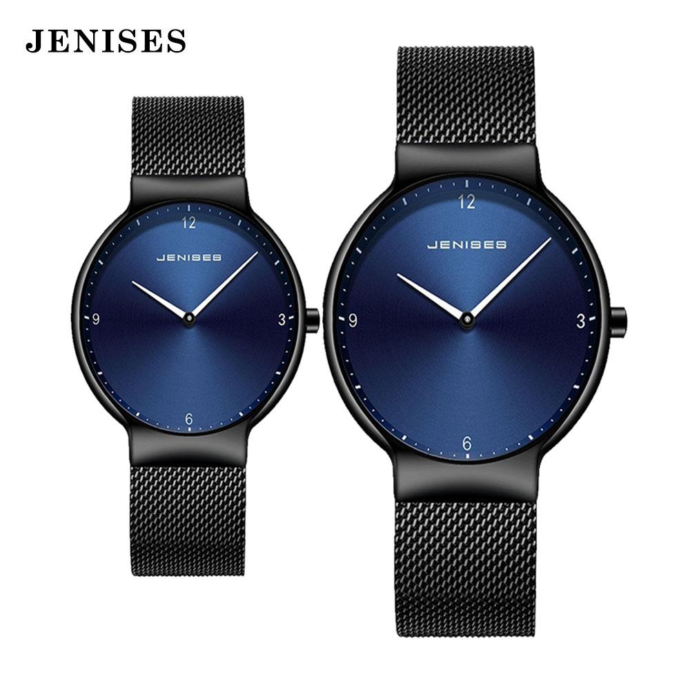 Couple Watch Man and woman Luxury Brand Thin Full Mesh Simple Elegant Waterproof Watch Couple Lovers