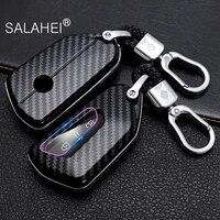 abs car key case for vw volkswagen golf 8 mk8 2020 skoda octavia 3 buttons smart keyless remote control cases keychain holder
