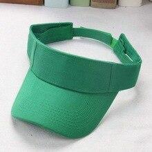 Nowy styl damski pusty top sport anty parasol przeciwsłoneczny zielony kapelusz