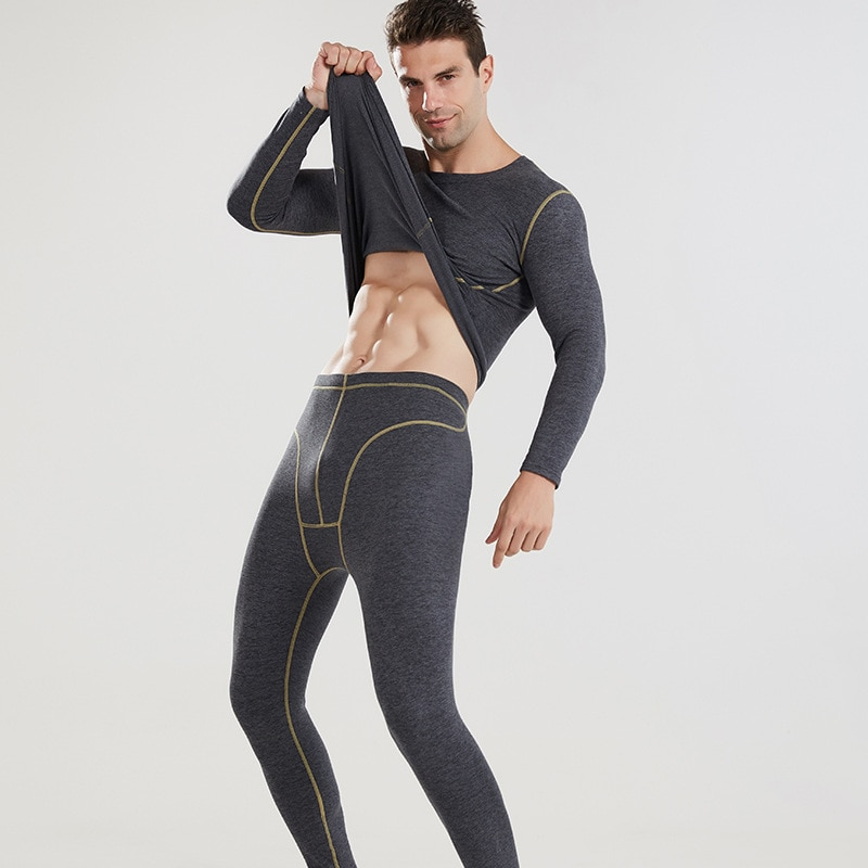 Men Sets Winter Thermos Underwear Men's Thermal Underwear Compression Underwear Thermal Clothing Man