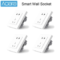 Xiaomi Aqara Smart Wall Socket Wireless Wall Outlet Wall Switch Plug Smart Light Remote Control ZiGBee Work For Mijia Mihome APP