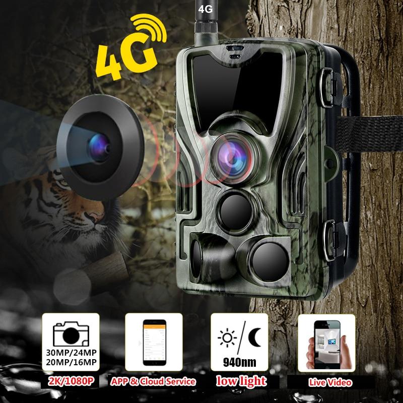 لايف فيديو سحابة الخلوية الصيد كاميرا تعقب 4G للرؤية الليلية 940nm صور فخ للصيد 4G الحياة البرية صيد الكاميرا في الهواء الطلق