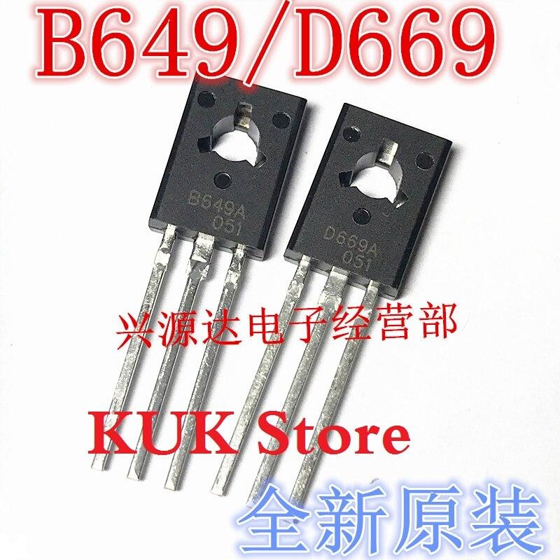 Original 100% nuevo B649A D669A 2SB649A 2SD669A-126 10 pares = B649A 10 Uds + D669A 10 Uds
