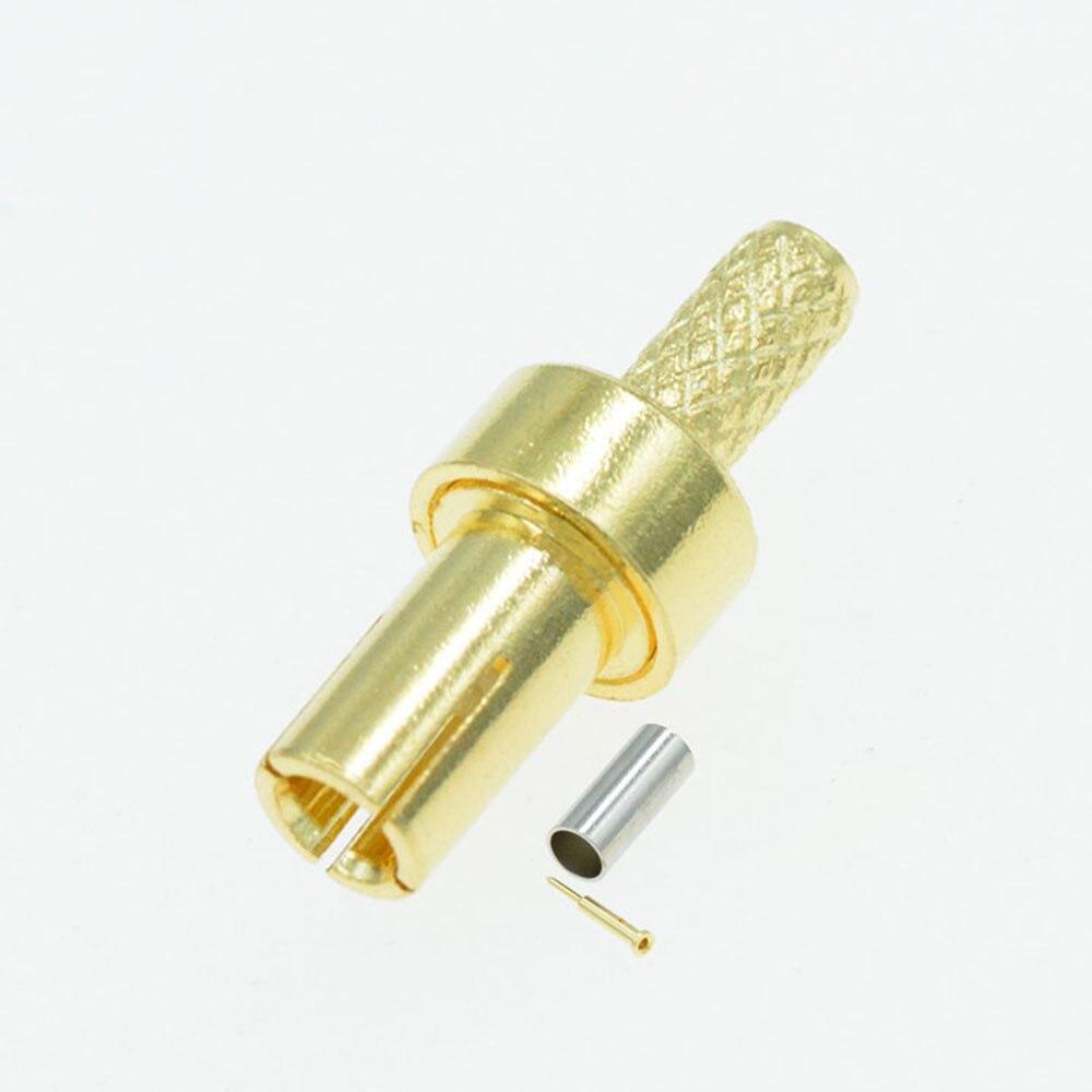 1pc ouro ts9 macho plug conector reta friso para rg316 rg174 rg178 rf cabo coaxial
