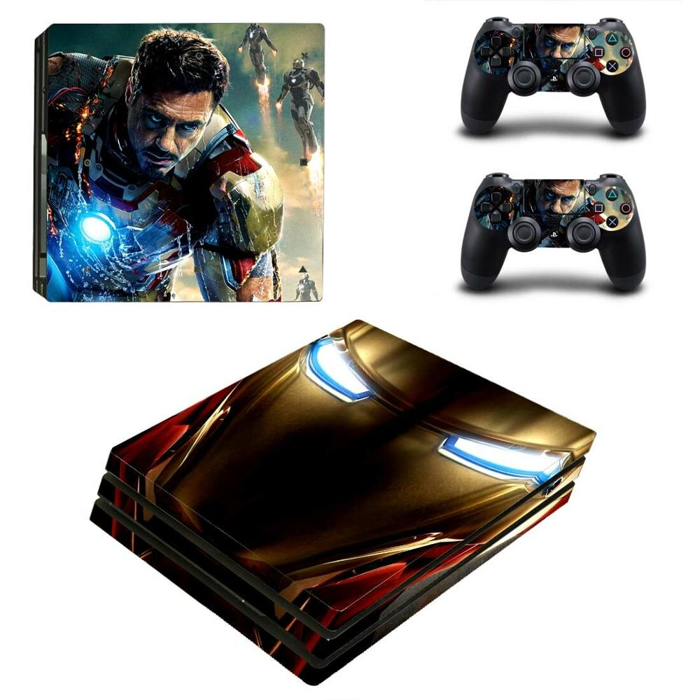 Avengers, pegatinas de Iron Man PS4 Pro para Play station 4, pegatinas de piel para PlayStation 4, PS4 Pro, consola y controlador Skins de vinilo